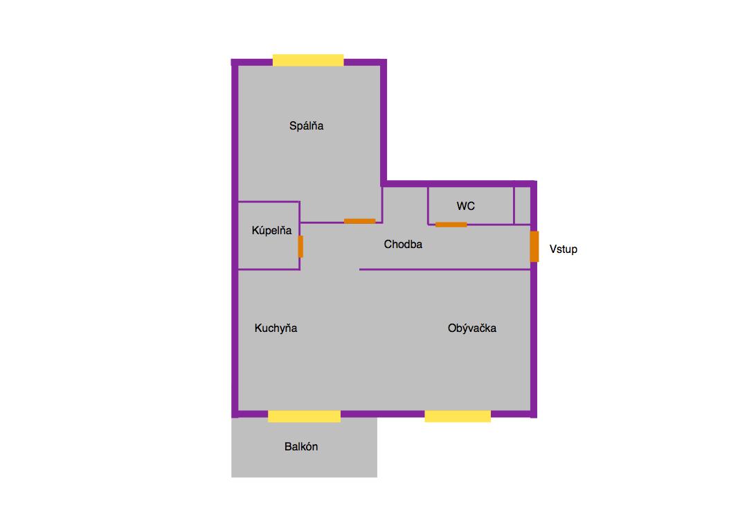 Pôdorys bytu - informačný