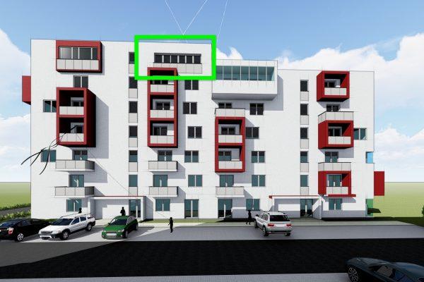 Trojizbový byt, bytový dom SO 105 2021 ŽITAVA II