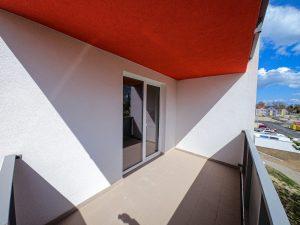 vzorový byt pohľad na balkón