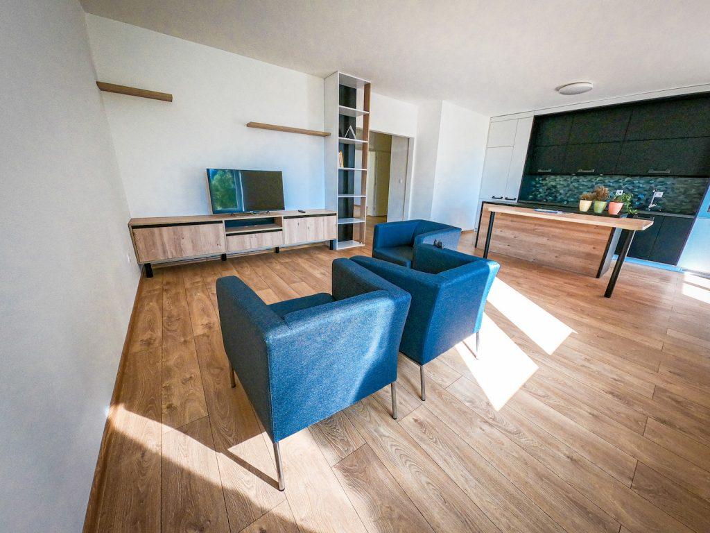 vzorový byt pohľad do dennej časti bytu